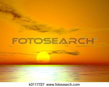 Stock Illustration of El Golden Sunset k0117727.