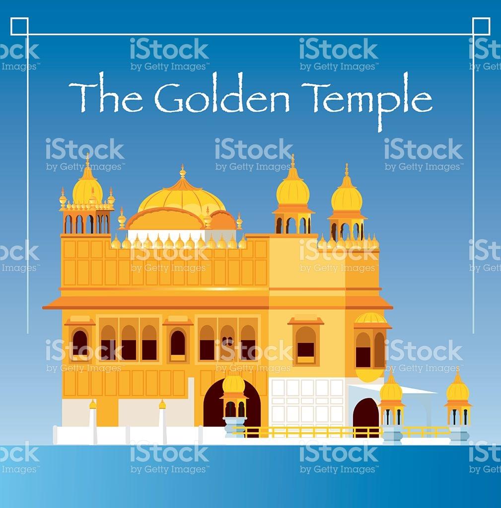 The Golden Temple stock vector art 543839230.