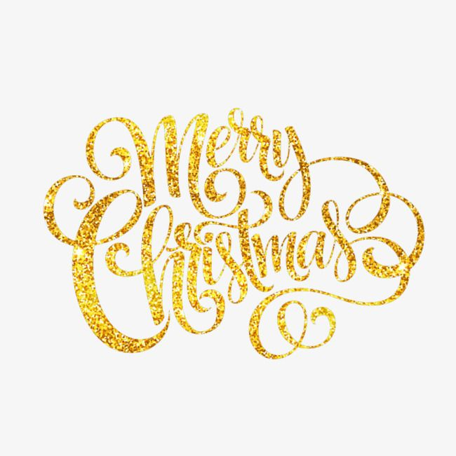 Golden Merry Christmas, Golden, Christmas, Free Download PNG.