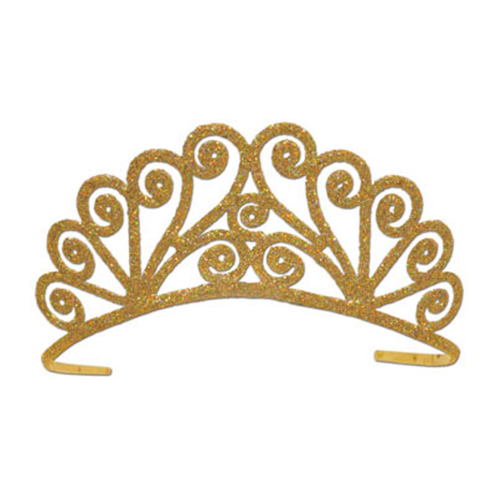 Gold princess tiara clip art.