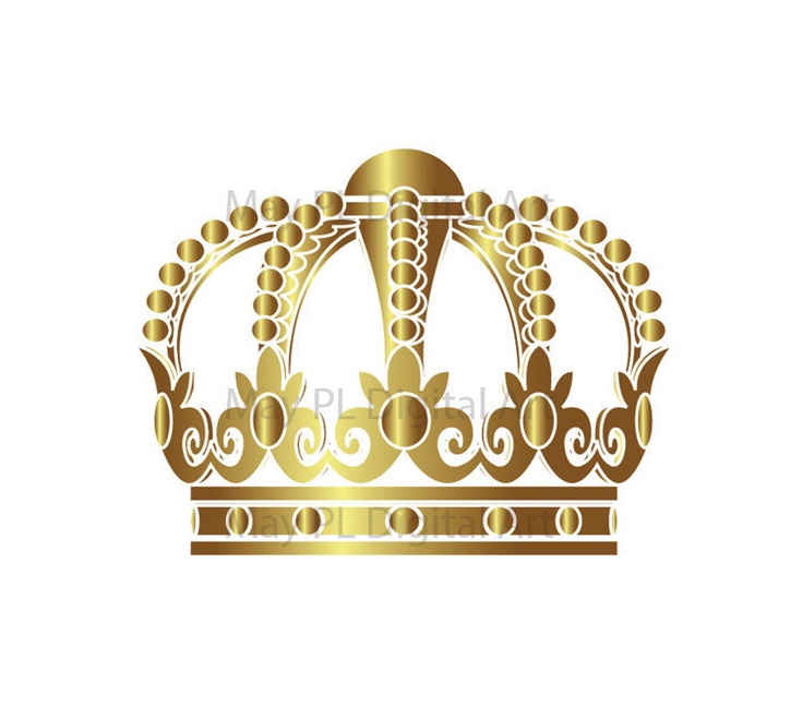 Crown clipart gold.