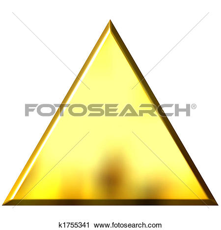 Clip Art of 3D Golden Triangle k1755412.