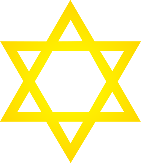 Golden Star of David Symbol.
