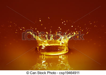 Stock Photography of Golden water csp19464911.