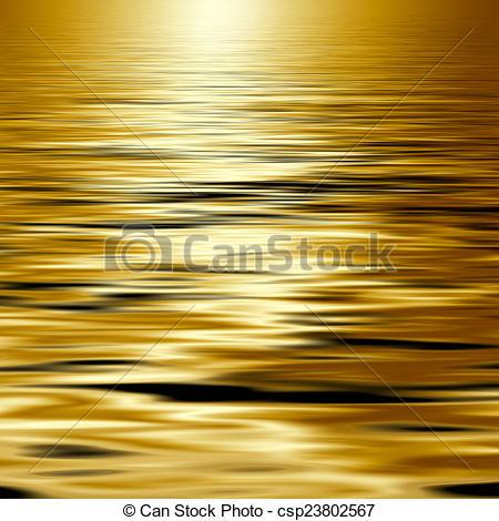 Stock Illustration of golden water.