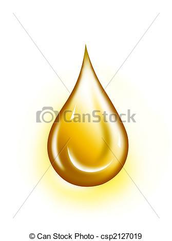 Stock Illustration of Golden drop.