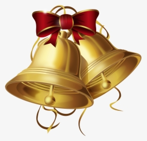 Gold Christmas Bells Png Clip Art, Transparent Png.