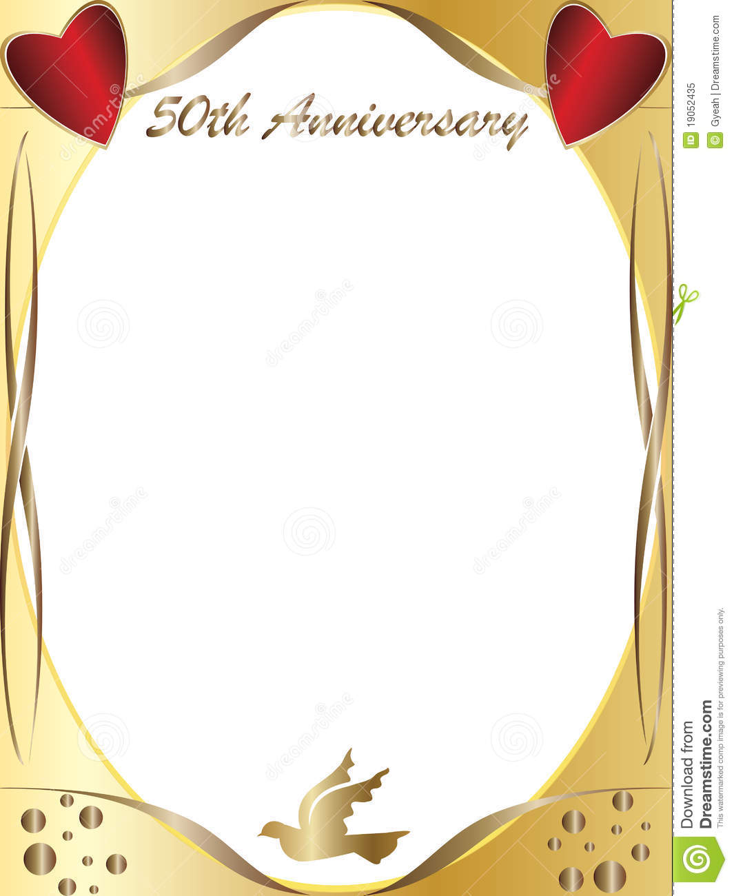 50th wedding anniversary stock illustration. Illustration of drawing.