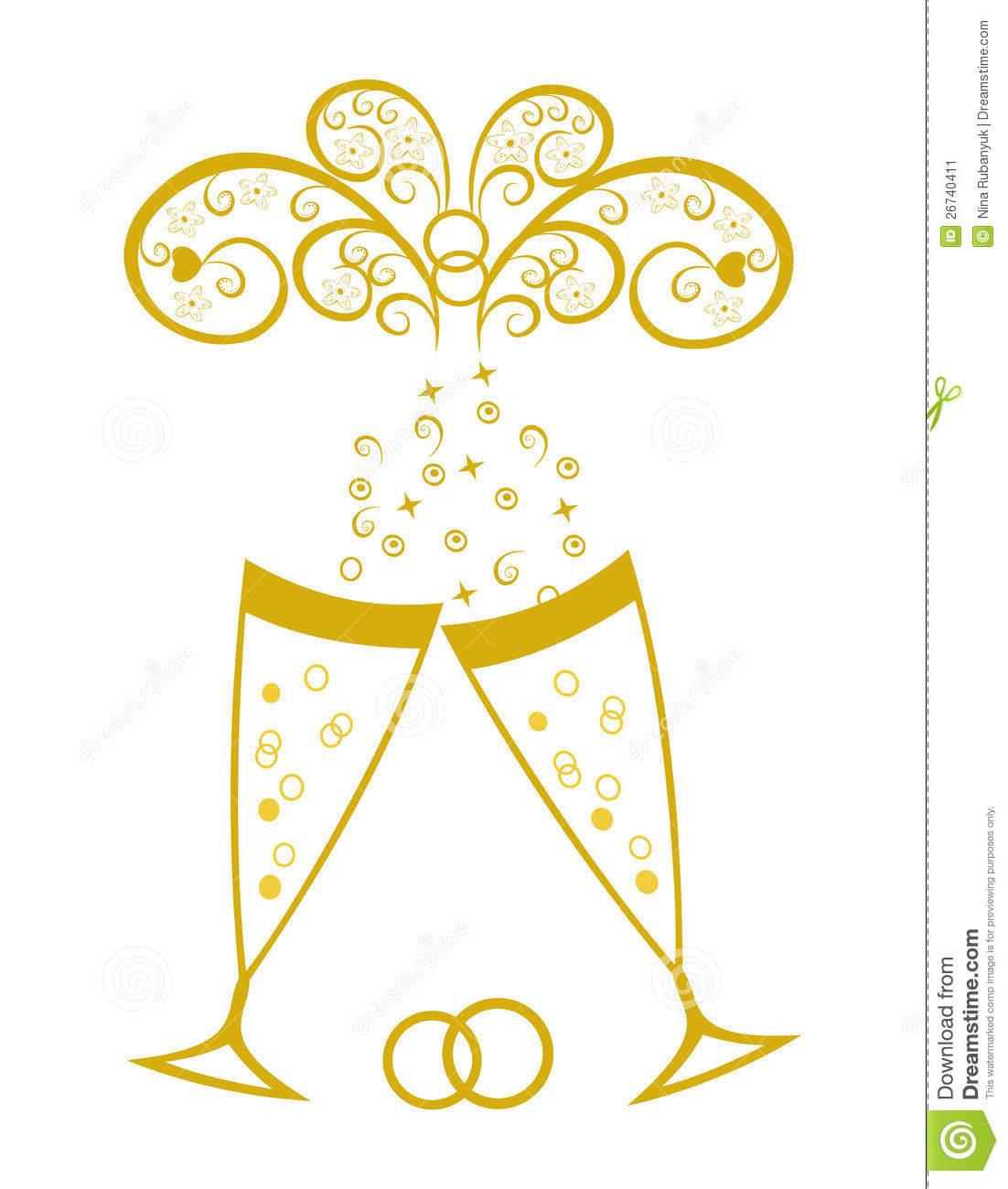 Clipart Golden Wedding.