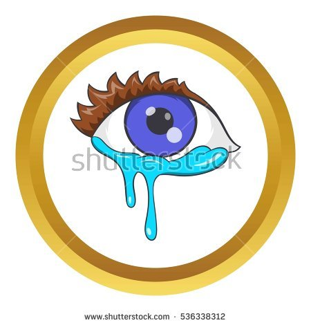 Crying Eyes Icon Cartoon Style Isolated Stock Vector 444101557.