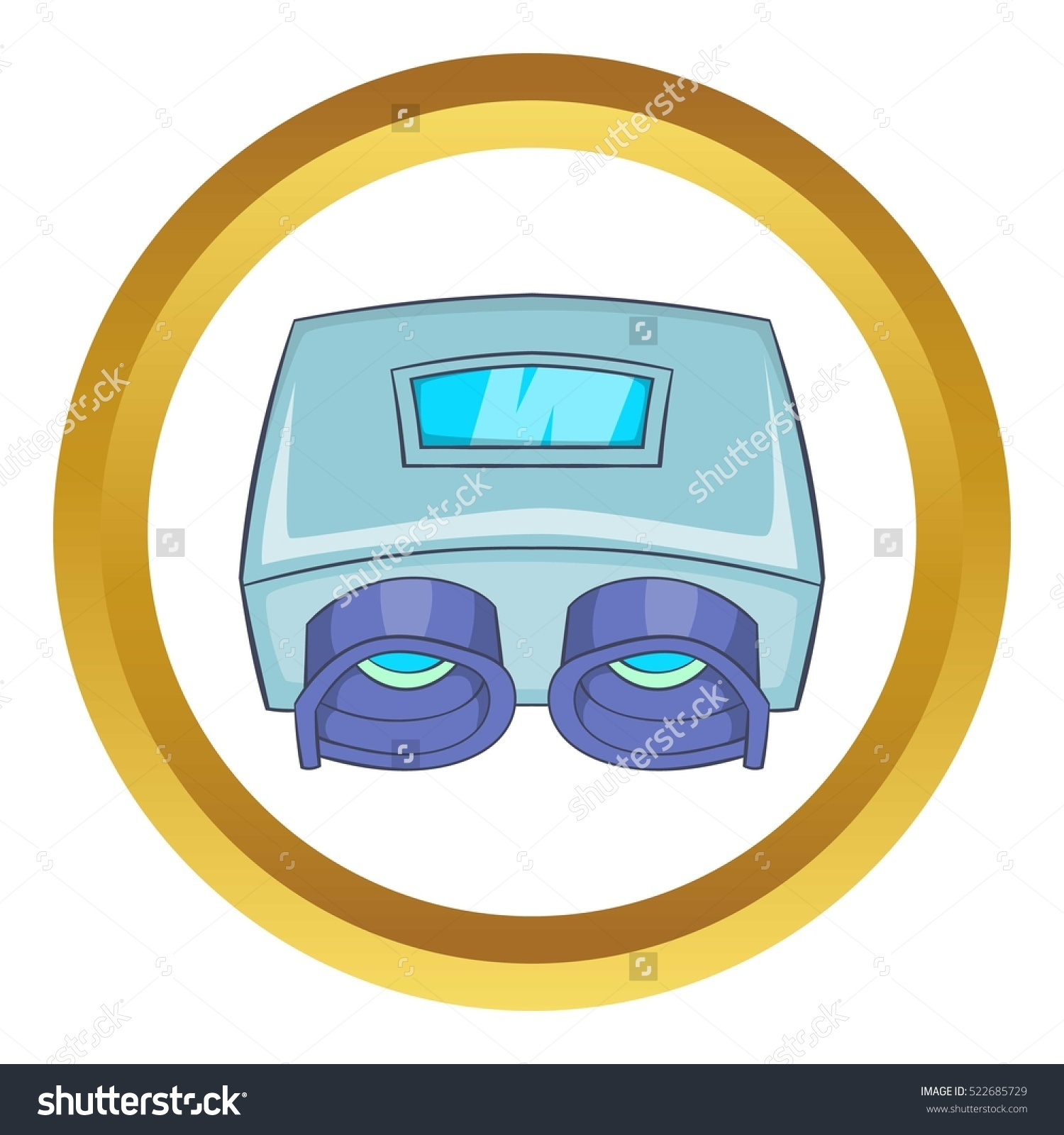 Eye Checking Machine Vector Icon Golden Stock Vector 522685729.