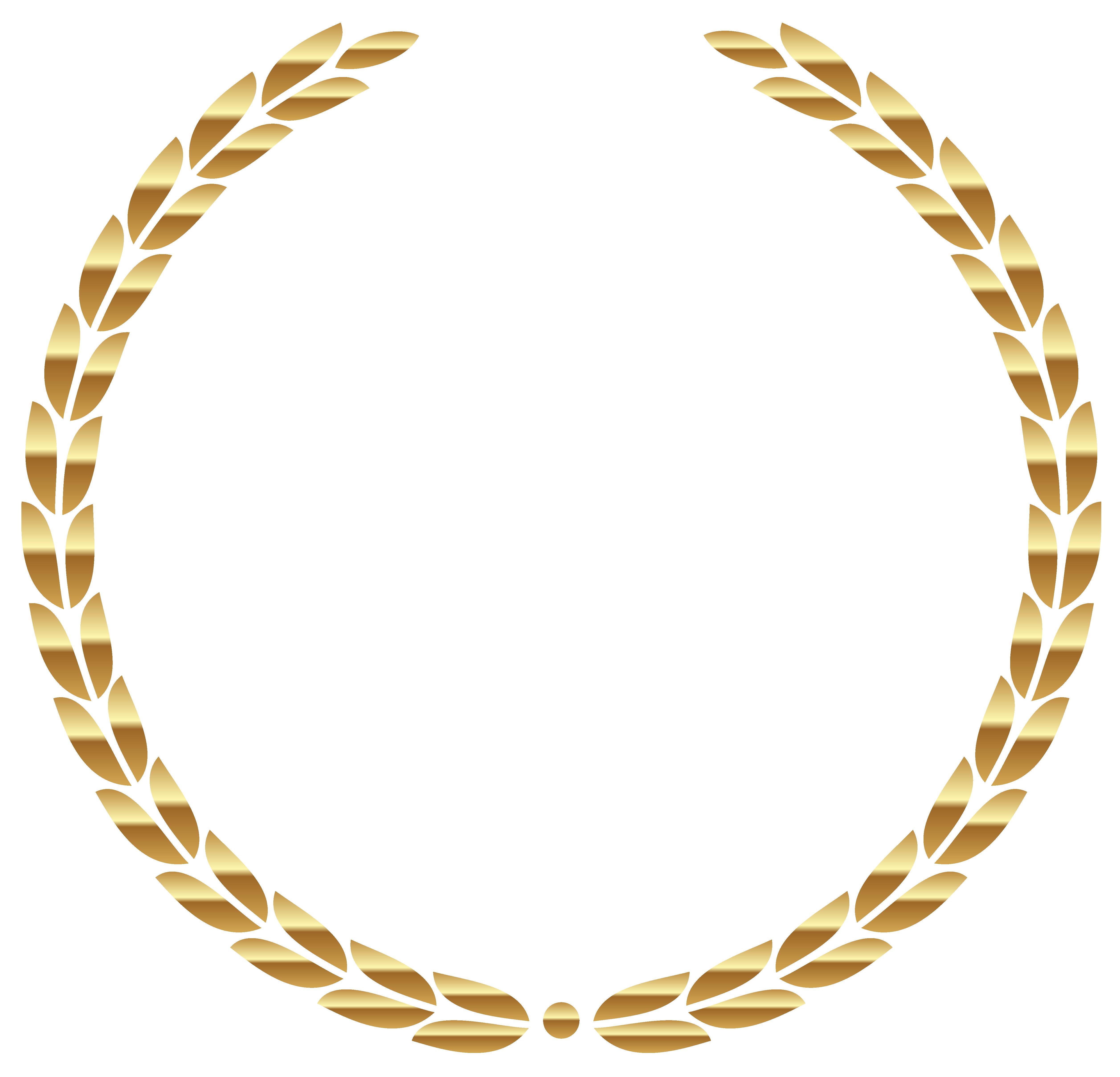Transparent Gold Wreath Transparent PNG Image.