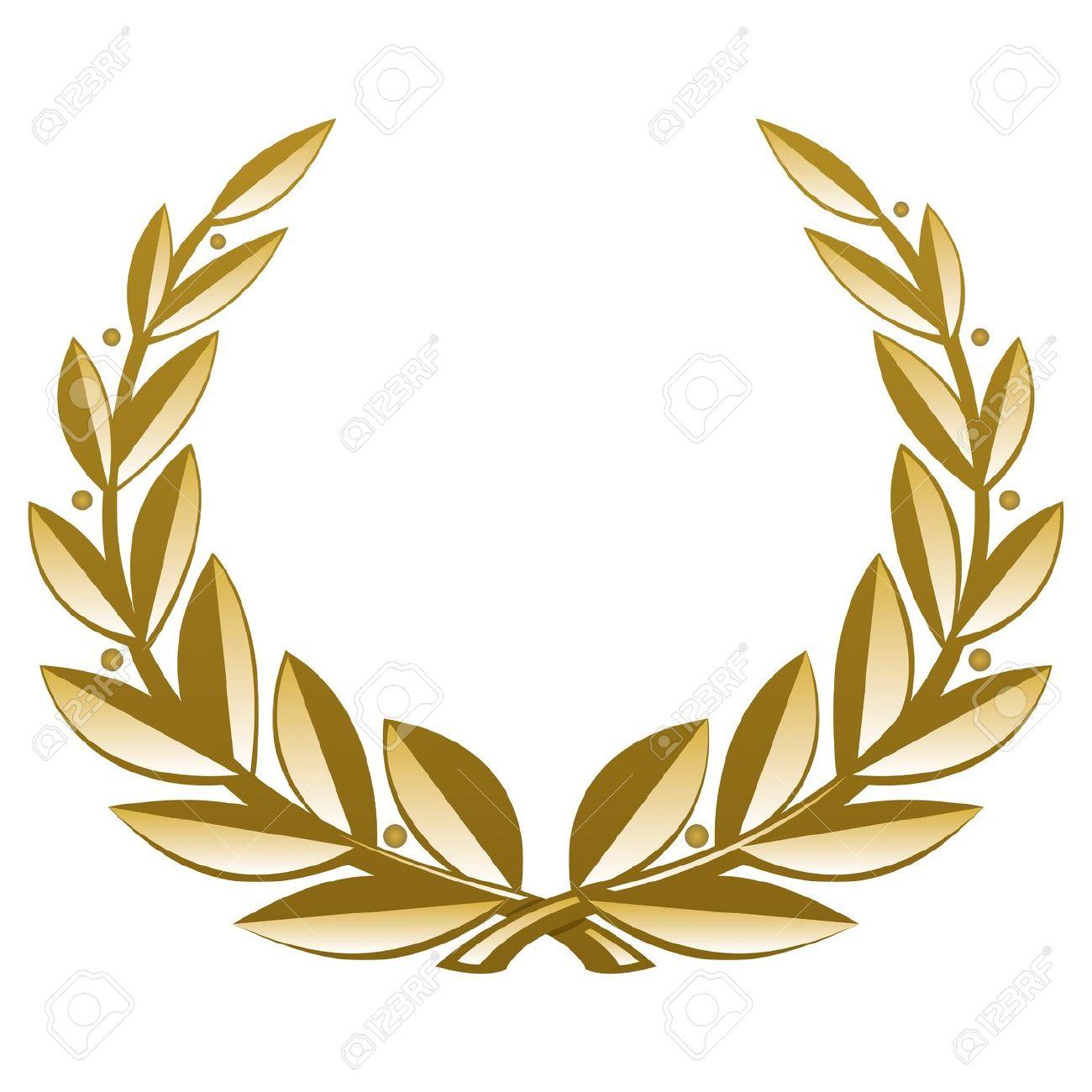 Golden Wreath. Vector Illustration (EPS V. 8.0) Royalty Free.