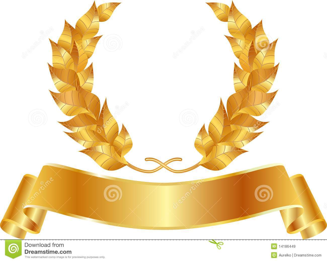 Golden Wreath Royalty Free Stock Images.