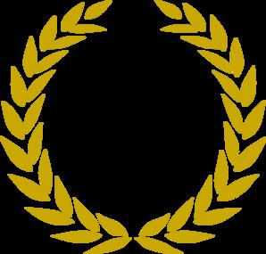 Golden Wreath Clipart.