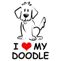 Goldendoodle dog clipart.