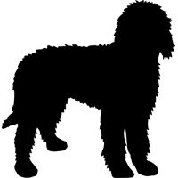Goldendoodle Silhouette, mat and frame this for boys room!.