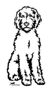 Image result for goldendoodle silhouette.