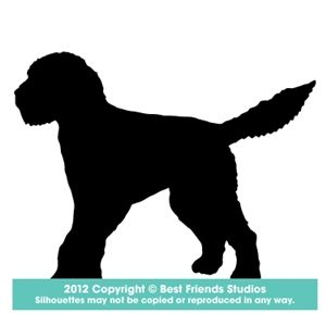 Goldendoodle Silhouette.