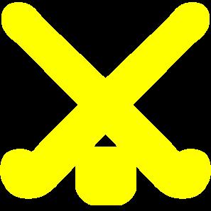 Gold Field Hockey Sticks Clip Art at Clker.com.