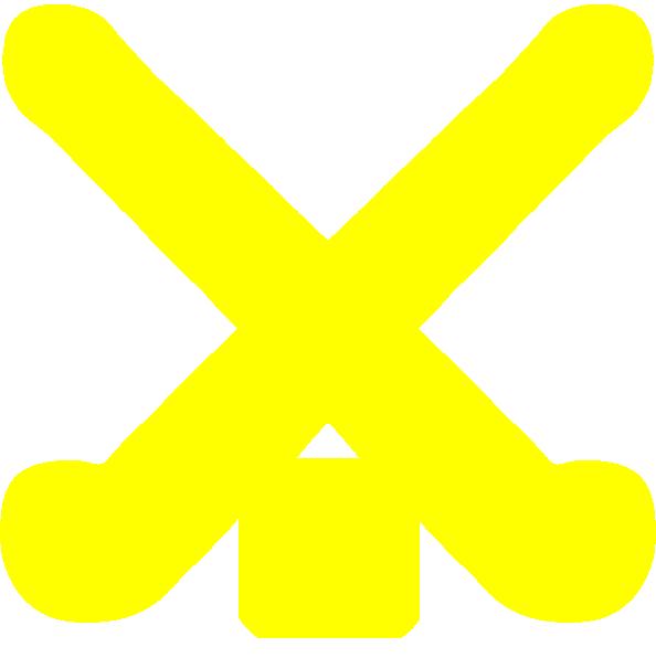 Gold Field Hockey Sticks Clip Art At Clker Com Vector Clip Art.