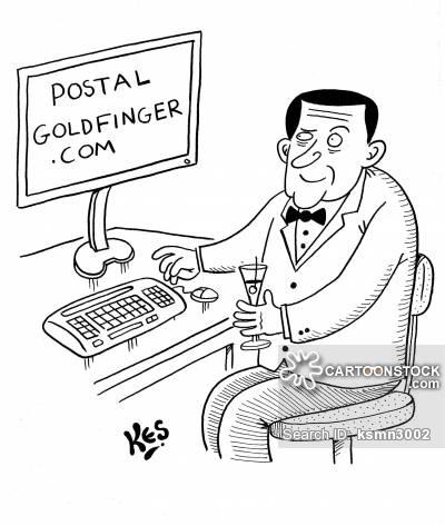 Goldfinger Cartoons and Comics.