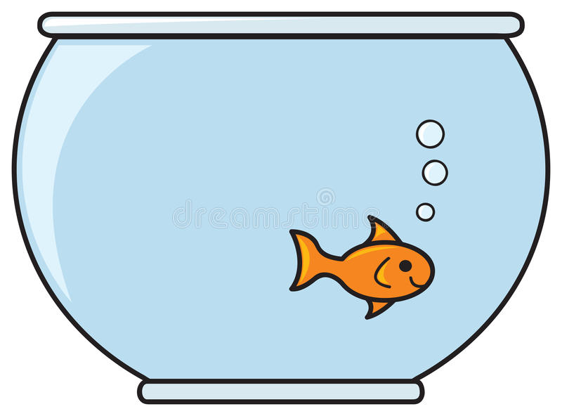 Goldfish Bowl Stock Illustrations.