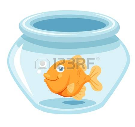 1,325 Goldfish In A Bowl Stock Vector Illustration And Royalty.