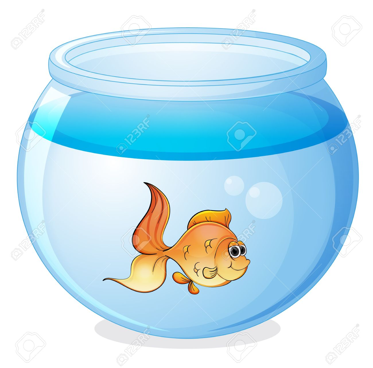 Goldfish bowl clipart clipground for Fish in a bowl