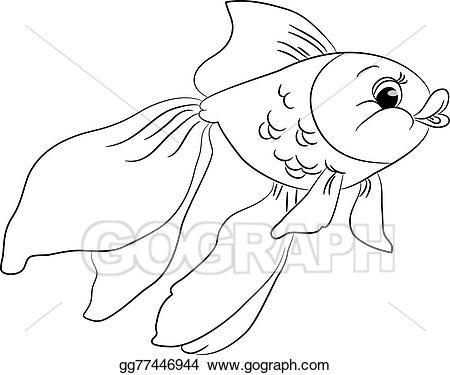 Goldfish clipart black and white 4 » Clipart Portal.