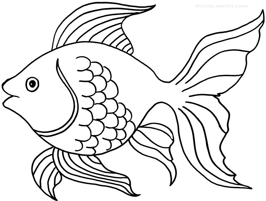 Goldfish clipart black and white 5 » Clipart Portal.