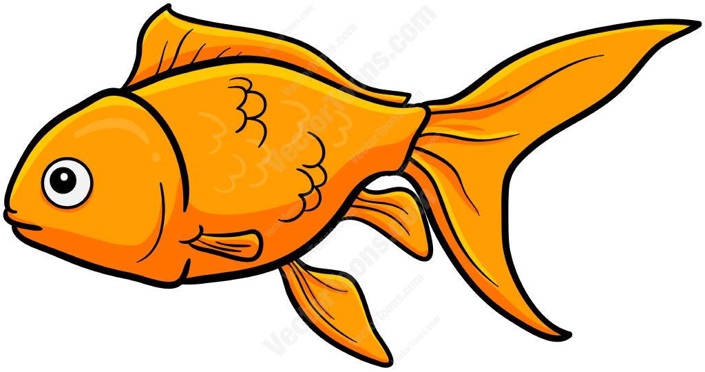 Cartoon Goldfish Clipart.