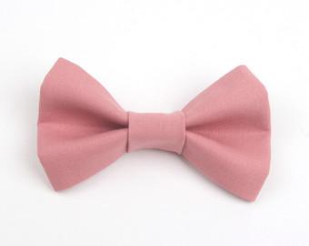 Blush bow tie.