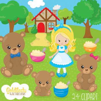Goldilocks And The Three Bears Clipart Worksheets & Teaching.