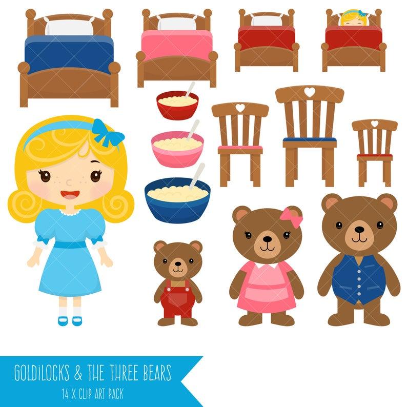 Goldilocks and the Three Bears Clipart.