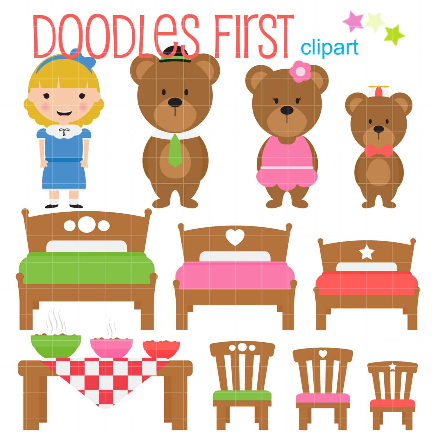 Goldilocks And The Three Bears Clipart Group with 59+ items.