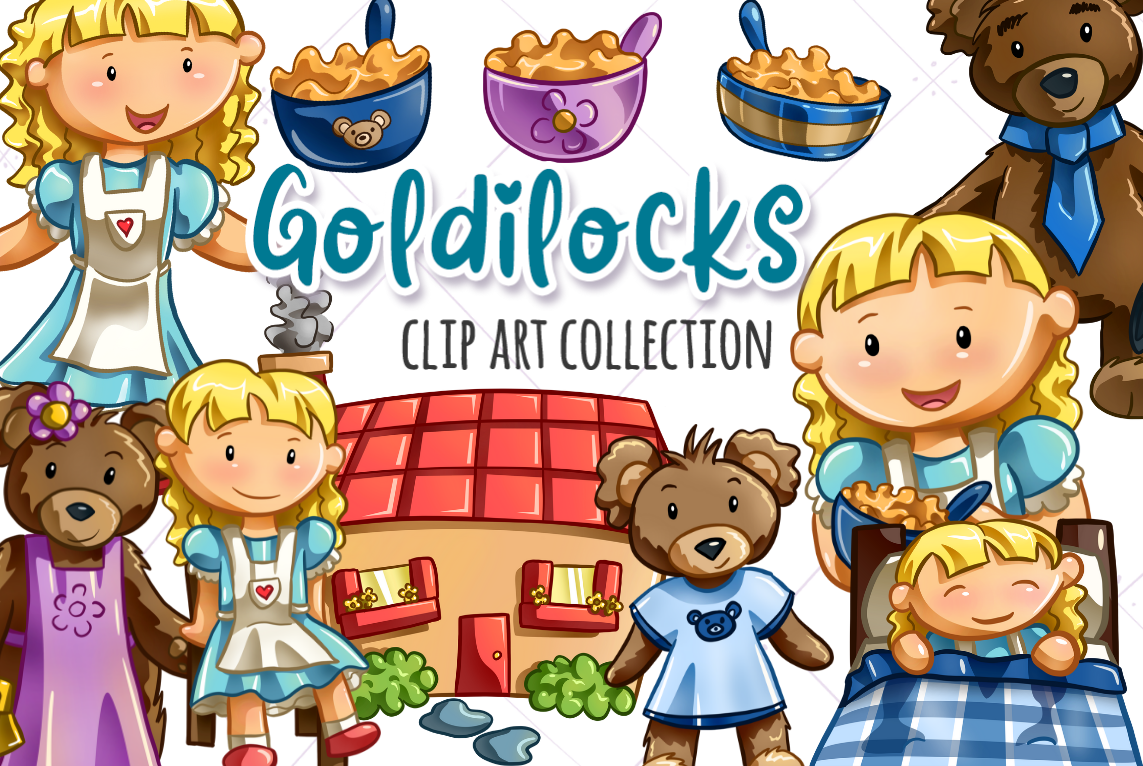 Goldilocks and the Three Bears Clip Art Collection.