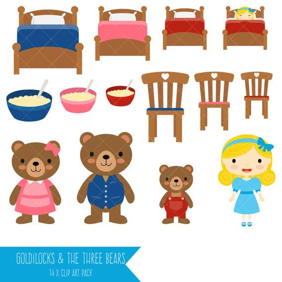 Goldilocks and the Three Bears Clipart.