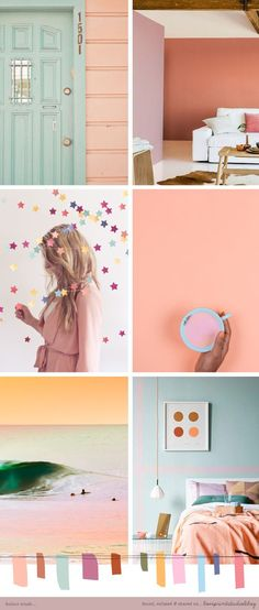 Turquoise and Gold Color Palette Interior Design Inspiration.