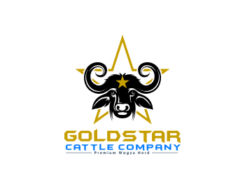 GoldStar Cattle Company Logo Design.