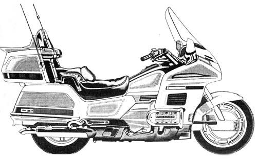Honda Goldwing Clipart.