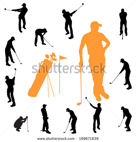 Golf Silhouette Stock Photos, Royalty.