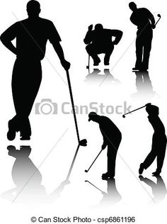Golfer silhouette Vector Awesome Golfer Vector DownloadSilhouette.