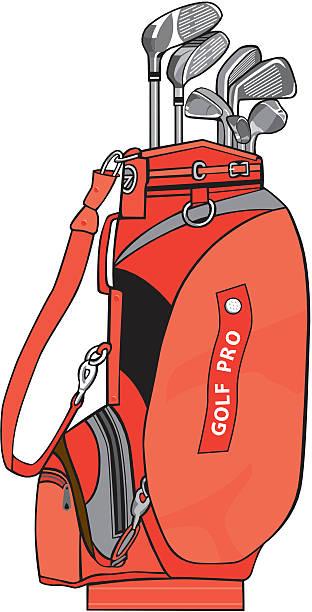 Best Golf Bag Illustrations, Royalty.