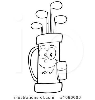 Golf Bag Clipart #1096066.