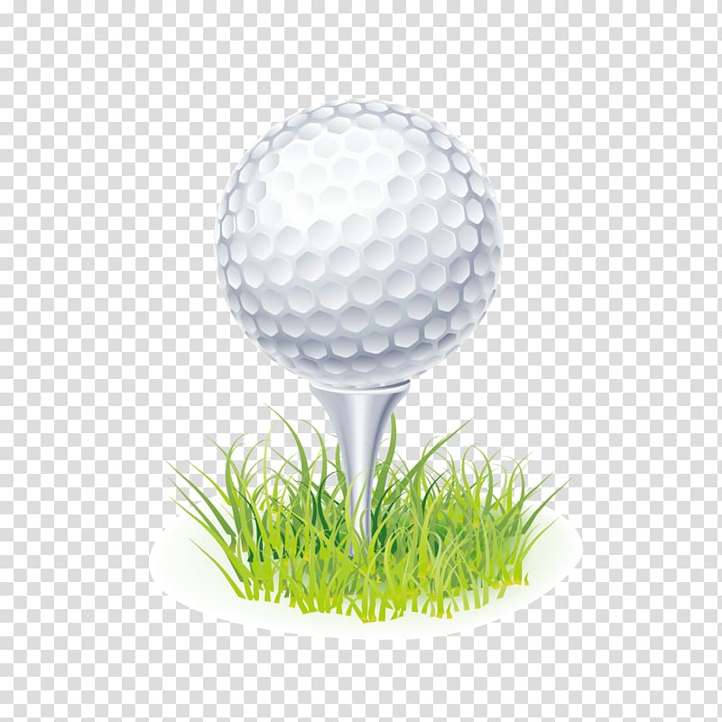 White golf ball , Tee Golf ball , golf transparent.
