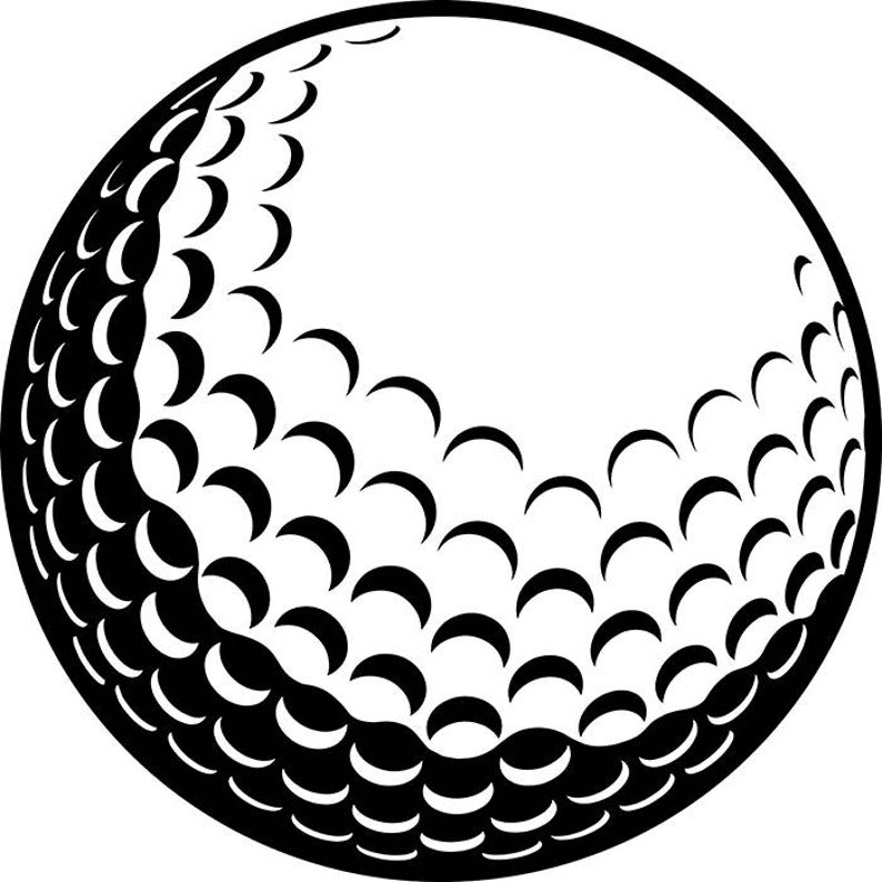 Golf Ball #2 Golfer Golfing Clubs Sports Competition Tournament Equipment  Game .SVG .EPS .PNG Instant Digital Clipart Vector Cricut Cut File.