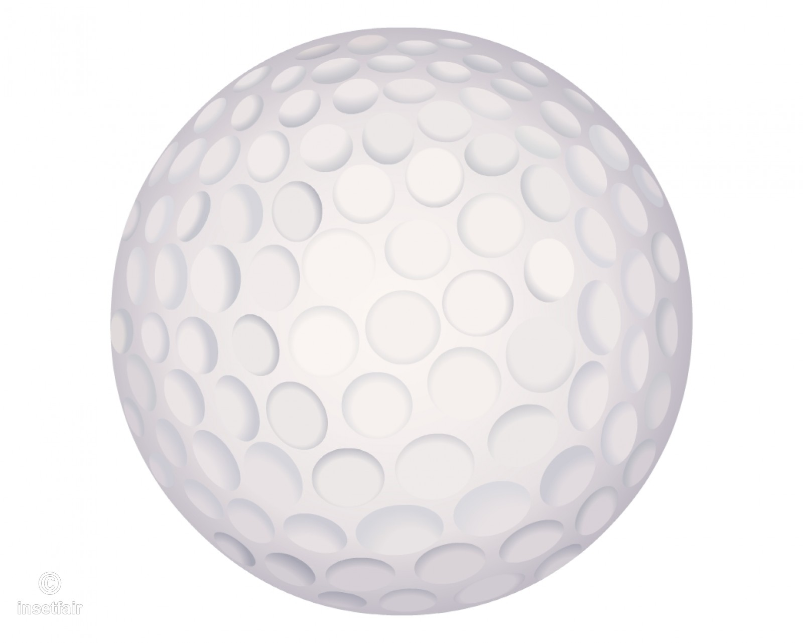 Golf ball png vector clipart free download.