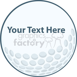 5690 Royalty Free Clip Art Golf Ball Sign clipart. Royalty.