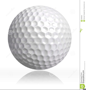 Funny Golf Ball Clipart.